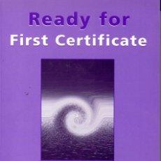 Libros de segunda mano: READY FOR FIRST CERTIFICATE - WORKBOOK (ROY NORRIS). Lote 85264888