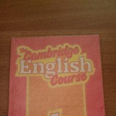 Libros de segunda mano: THE CAMBRIDGE -ENGLISH- COURSE 1ºPRACTICE BOOK. Lote 86471120