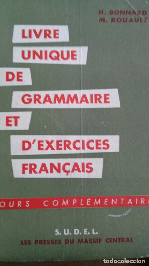 Livre Unique De Grammaire Et D Exercices Francais