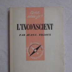 Livros em segunda mão: HOS. L INCONSCIENT. PAR JEAN C . FILLOUX. EDC UNIVERSITAIRES. Lote 88290252