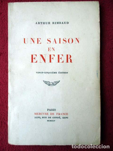 Une Saison En Enfer Arthur Rimbaud Mercure De France 1945
