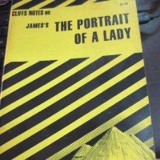 Libros de segunda mano: CLIFFS NOTES ON JAMES'S THE PORTRAIT OF A LADY AÑO 1965. Lote 90971155