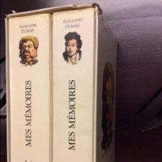 Libros de segunda mano: MES MÉMOIRES - ALEXANDRE DUMAS - 2 TOMOS. Lote 90448449