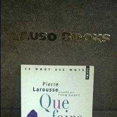 Libros de segunda mano: QUE FAIRE DES CRETINS. PIERRE LAROUSSE. FRANCES. LES PERLES DU GRAND LAROUSSE.. Lote 95293879