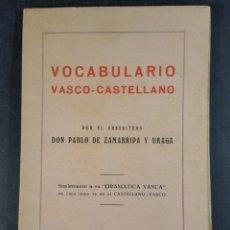 VOCABULARIO VASCO-CASTELLANO ZAMARRIPA Y URAGA 1947