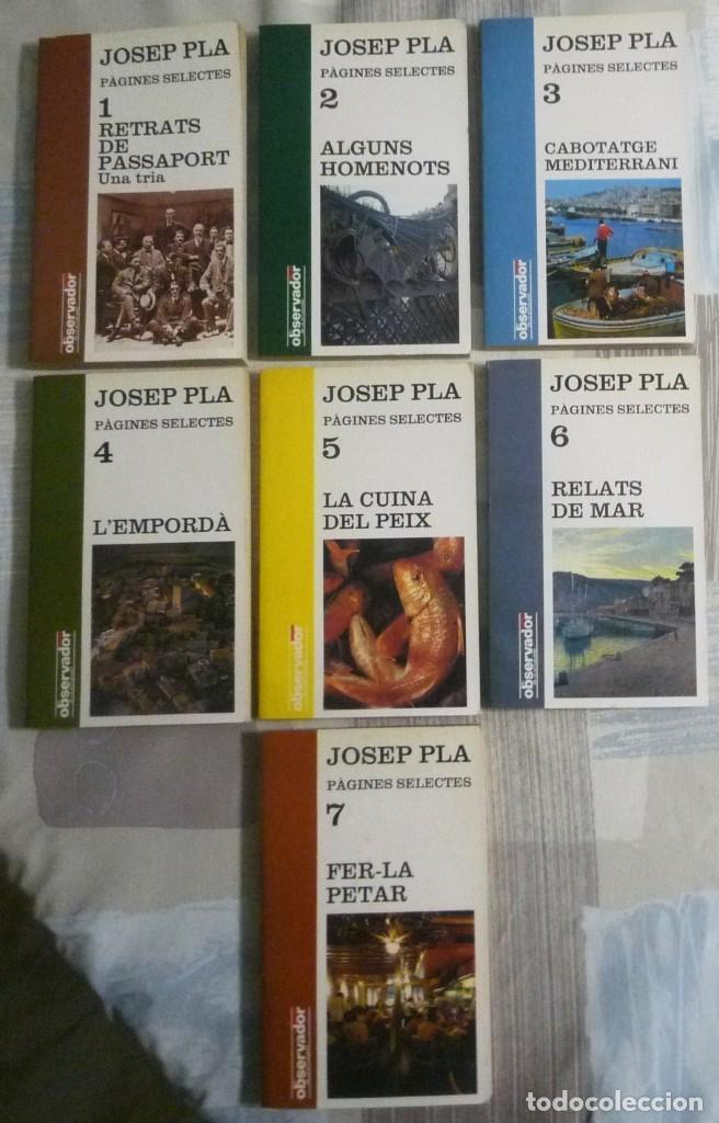 PÀGINES SELECTES. JOSEP PLA. COLECCION DE SIETE LIBROS (Libros de Segunda Mano - Otros Idiomas)