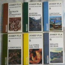 Libros de segunda mano: PÀGINES SELECTES. JOSEP PLA. COLECCION DE SIETE LIBROS. Lote 102263739