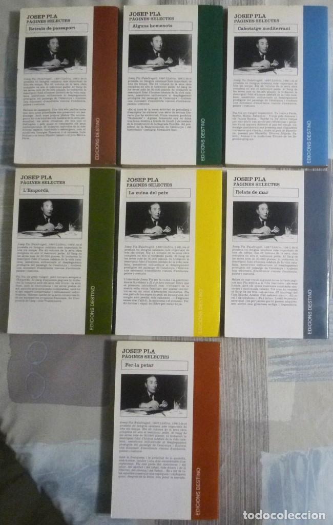 Libros de segunda mano: PÀGINES SELECTES. JOSEP PLA. COLECCION DE SIETE LIBROS - Foto 2 - 102263739