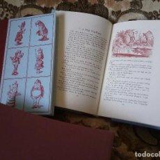 Libros de segunda mano: ALICIA, DE LEWIS CARROLL (EN INGLÉS). EDICIÓN LUJO EN 2 TOMOS CON CAJA. ILUSTRADO.. Lote 103208983