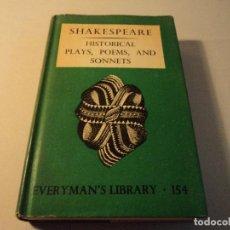 Libros de segunda mano: SHAKESPEAREAN HISTORICAL PLAYS, POEMS AND SONNETS 1950. Lote 103661391