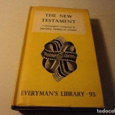 Libros de segunda mano: THE NEW TESTAMENT 1941. Lote 103674779