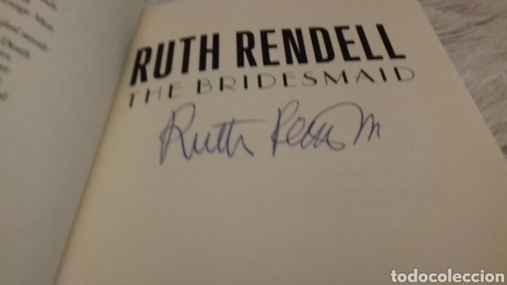 Libros de segunda mano: The Bridesmaid Signed by Author Ruth Rendell - Foto 3 - 104319155