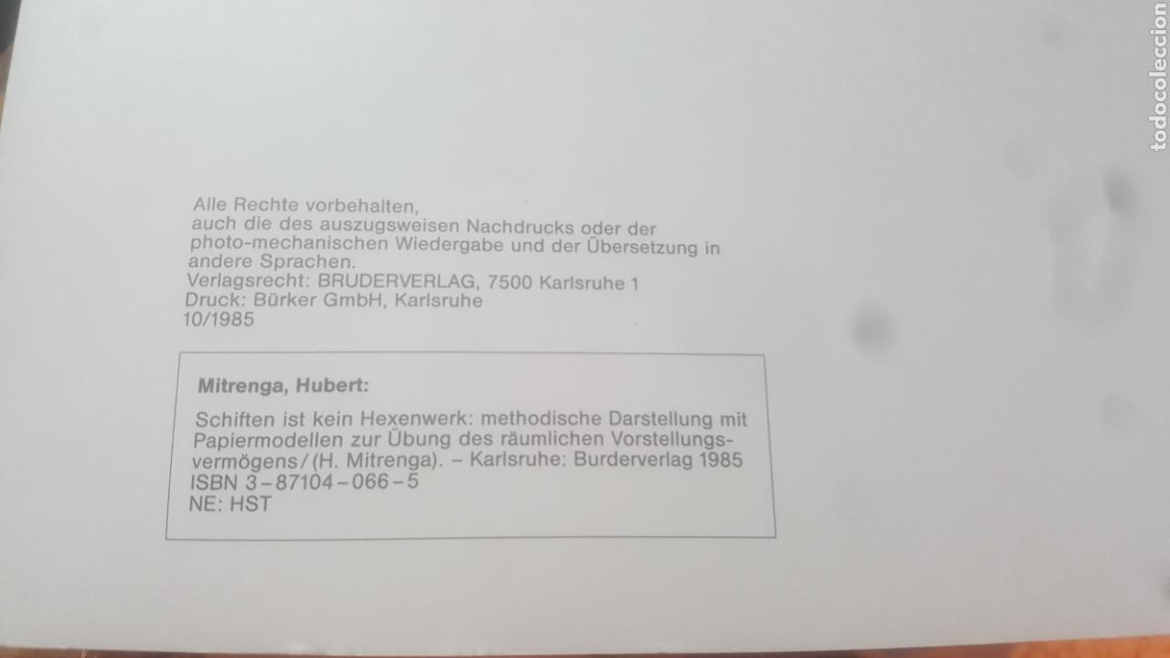 Libros de segunda mano: SCHIFTEN IST KEIN HEXENWERK H. Mitrenga - Foto 3 - 105027282