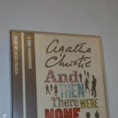 Livros em segunda mão: AUDIOBOOK AND THEN THERE WERE NONE AGATHA CHRISTIE 5 CDS UNABRIDGED READ BY HUGH FRASER - HARPER -. Lote 107444511