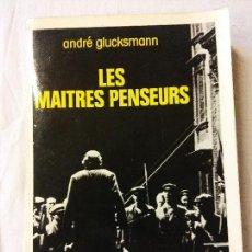 Livros em segunda mão: HOS. ANDRE GLUCKSMANN. LES MAITRES PENSEURS. GRASSET. EN FRANCES. Lote 108901747