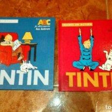 Libros de segunda mano: 2 LIBROS DE TINTIN. Lote 110368615