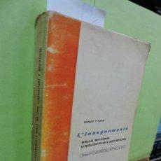 Libros de segunda mano: L' INSEGNAMENTO DELLE MATERIE LINGUISTICHE E ARTISTICHE. TITONE, RENZO. ED. PAS-VERLAG. ZÜRICH 1963. Lote 110425815