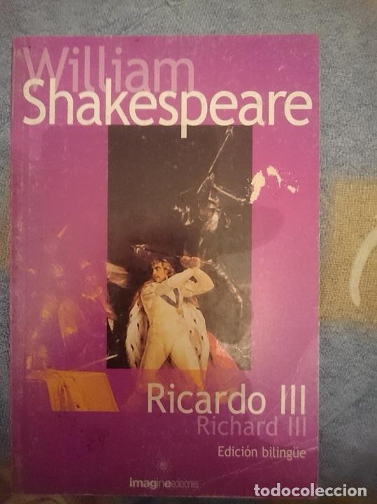 WILLIAM SHAKESPEARE - RICARDO III - RICHARD III -EDICION BILINGÜE ESPAÑOL INGLES --REFM3E1 (Libros de Segunda Mano - Otros Idiomas)