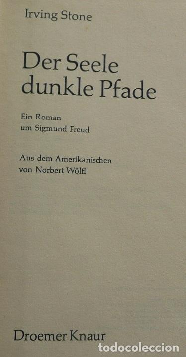 Libros de segunda mano: Der Seele dunkle Pfade (Ein Roman um Sigmund Freud) - Irving Stone - Foto 2 - 111775199
