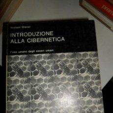 Libros de segunda mano - Introduzione alla cibernetica, Norbert Wiener, ed. Boringhieri - 112654479