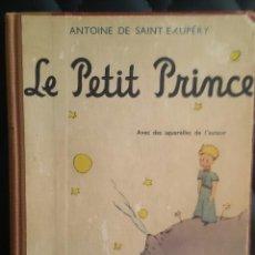 Libros de segunda mano: LE PETIT PRINCE, ANTOINE DE SAINT-EXPUPÉRY. AVEC DES AQUALLERES DE L'AUTEUR. GALLIMARD, 1946.. Lote 222188683