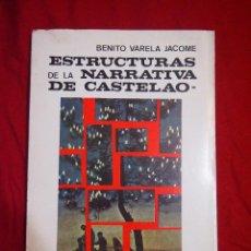 Libros de segunda mano: LITERATURA GALLEGA. ESTUDIOS SOBRE AUTORES. CASTELAO. AUTOR. BENITO VARELA JACOME. Lote 113368695
