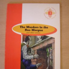 Libros de segunda mano: THE MURDERS IN THE RUE MORGUE ( INGLÉS- 1º- BACHILLERATO) - EDGAR ALLAN POE. Lote 113658939