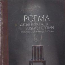 Libros de segunda mano: POEMA BATEN IRAKURKETA EUSKAL HERRIAN+DVD. INFORME TORTURA 2007. EN EUSKERA. Lote 114032259
