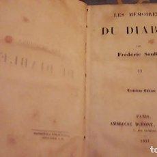 Libros de segunda mano: LES MEMOIRES DU DIABLE. TOMO II.. FREDERIC SOULIER. EDICIÓN DE 1937... Lote 116557187