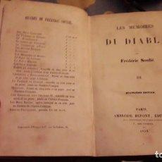 Libros de segunda mano: LES MEMOIRES DU DIABLE. TOMO III.. FREDERIC SOULIER. EDICIÓN DE 1938.. Lote 116558323