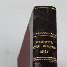 Libros de segunda mano: L- 2303. ECRITS DE PARIS. AÑO 1961.. Lote 118812935