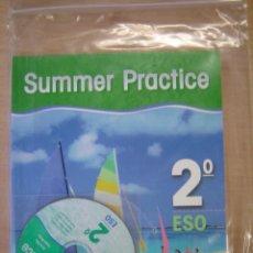 Libros de segunda mano: CUADERNO DE VACACIONES - SUMMER PRACTICE - 2º DE ESO - BURLINGTON. Lote 123419991