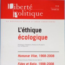 Libros de segunda mano: LIBRO EN FRANCES: L´ÉTHIQUE ÉCOLOGIQUE - Nº58. Lote 124573359