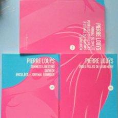 Libros de segunda mano: LIBRO EN FRANCES: LOTE DE TRES LIBROS DE PIERRE LOUYS Nº 67. Lote 125036035