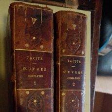 Libros de segunda mano: ANNALES DE TACITE (TÁCITO) OBRAS COMPLETAS 2 TOMOS. Lote 125121319