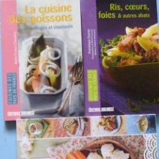 Libros de segunda mano: LIBRO EN FRANCES:LOTE DE 3 LIBROS DE RECETAS DE COCINA Nº97. Lote 125292363