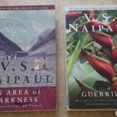 Libros de segunda mano: 2 BOOKS BY NOBEL PRIZE WINNER V.S.NAIPAUL - GUERRILLAS AND AREA OF DARKNESS. Lote 127785758