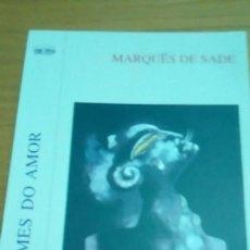 Libros de segunda mano: OS CRIMES DO AMOR, MARQUÉS DE SADE ( GALLEGO). Lote 129118287