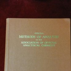 Libros de segunda mano: OFFICIAL METHODS OF ANALYSIS OF THE ASSOCIATION OF OFFICIAL ANALYTICAL CHEMISTS. Lote 130500858