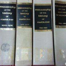 Libros de segunda mano: BIBLIOGRAPHY OF THE HISTORY OF MEDICINE. Lote 131438598