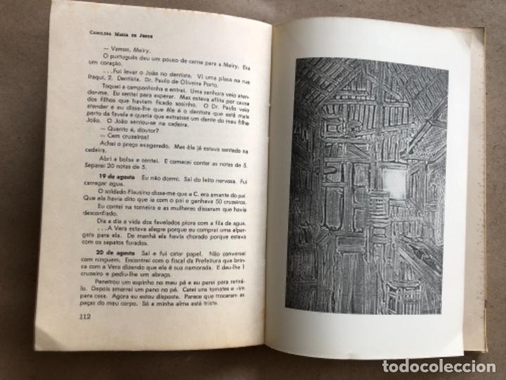 Libros de segunda mano: QUARTO DE ESPEJO (DIÁRIO DE UMA FAVELADA). CAROLINA MARÍA DE JESÚS. 1960. - Foto 5 - 132360598