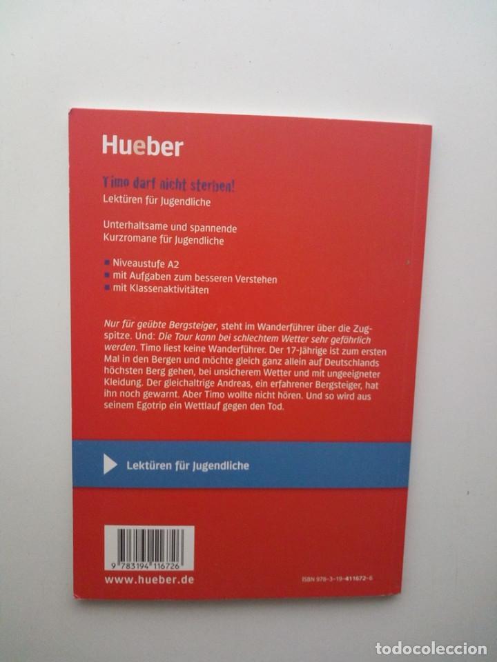 Libros de segunda mano: TIMO DARF NICHT STERBEN!: DEUTSCH ALS FREMDSPRACHE - CHARLOTTE HABERSACK - Foto 3 - 133046942