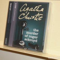 Livros em segunda mão: AUDIOBOOK AGATHA CHRISTIE POIROT THE MURDER OF ROGER ACKROYD 6 CDS UNABRIDGED READ BY HUGH FRASER . Lote 133162762