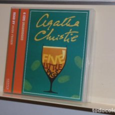 Livros em segunda mão: AUDIOBOOK AGATHA CHRISTIE POIROT FIVE LITTLE PIGS 6 CDS UNABRIDGED READ BY HUGH FRASER . Lote 133162886