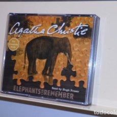 Livros em segunda mão: AUDIOBOOK AGATHA CHRISTIE ELEPHANTS CAN REMEMBER READ BY HUGH FRASER 5CDS UNABRIDGED- HARPER. Lote 133238918