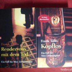 Libros de segunda mano: DEUTSCH ALEMÁN FRANK TALLIS MAX LIEBERMANN SIGMUND FREUD VIENA WIEN CRIMEN MISTERIO. Lote 134487486
