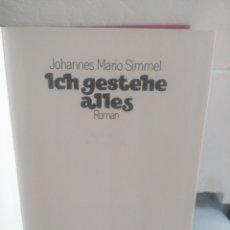 Libros de segunda mano: ICH GESTEHE ALLES. JOHANNES MARIO SIMMEL.. Lote 135251283