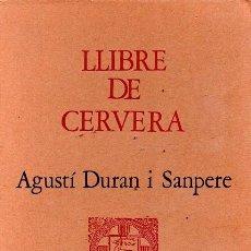 Libros de segunda mano: LLIBRE DE CERVERA. Lote 135406442