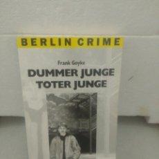 Libros de segunda mano: DUMMER JUNGE TOTER JUNGE. FRANK GOYKE. Lote 135833586