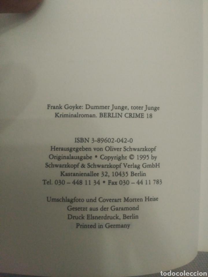 Libros de segunda mano: Dummer junge Toter Junge. Frank Goyke - Foto 3 - 135833586